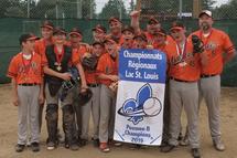 Les Orioles Peewee B de Sainte-Martine Champions des Régionaux 2019