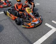 Francesco Catania sur son kart 233 a côte_ d'Alex Tagliani à Saint-Célestin