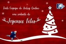 Toute l'équipe de Hockey Québec vous souhaite de joyeuses fêtes