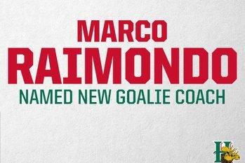 Raimondo named new Goaltending Coach