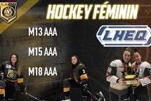 Les As de Québec AAA heureux de pouvoir contribuer au développement du hockey féminin
