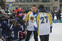 Tomas Plekanec des Canadiens de Montréal a été généreux avec les jeunes présents!
