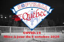 Mise à jour COVID-19: Paliers d'alertes - 8 au 28 octobre 2020