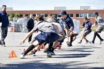 Des joueurs en plein entraînement hors glace