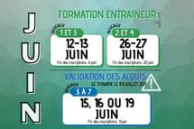 JUIN | Formation et validation des acquis  entraineur