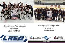 Des finales hautes en couleur pour les équipes de la LHEQ au tournoi de Québec