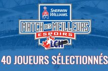 Cinq Québécois invités au Match des Meilleurs Espoirs de la LCH/LNH Sherwin-Williams 2019