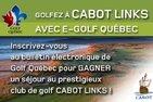 Golfez à Cabot Links avec e-Golf Québec