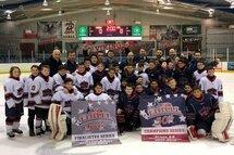 Les deux équipes  de Laval : Riverains finaliste et Citadelles Champions Atome AA LIHLLL