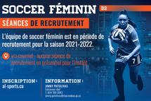 Soccer féminin - Crédit photo - James Hajjard et Tabasko Impression+Design