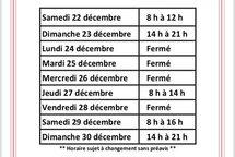 Horaire PEPS Decembre