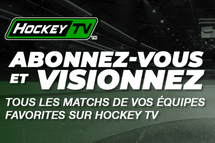 Diffusion web de nos matchs à la carte sur HockeyTV.com