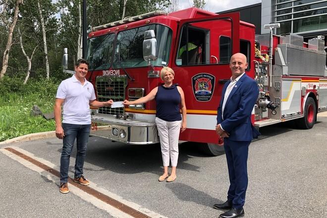 Don des JNAPP à la Fondation des pompiers du Québec pour les grands brûlés