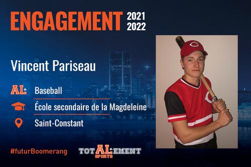 Vincent Pariseau, un nouveau joueur à grande volonté