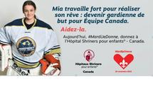 Voyez les progrès de Mia aux aux Hôpitaux Shriners pour enfants® – Canada, suite à sa blessure à un genou.