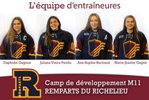 Équipe d'entraîneures du camp de développement M11