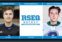 [Hockey coll. masculin div. 1] Joueurs du mois : Février 2020