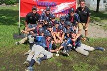 Ambassadeur de Lévis Pee-wee A Champion tournoi baseball beauport 2017