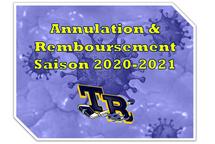Annulation & Remboursement - Saison 2020-2021