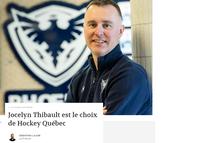 Jocelyn Thibault est le choix de Hockey Québec