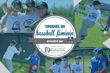 15 arrêts pour la tournée du baseball féminin en 2018!