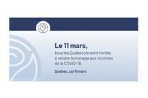 Commémoration des victimes de la COVID-19