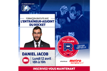 Les entraîneurs de hockey mineur de partout au Québec bénéficieront des conseils du personnel du Rocket dans une quatrième édition entièrement virtuelle