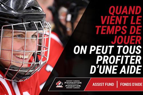 Le fonds d'aide de la Fondation Hockey Canada fait un retour avec un million de dollars en appui au retour au hockey des jeunes canadiens