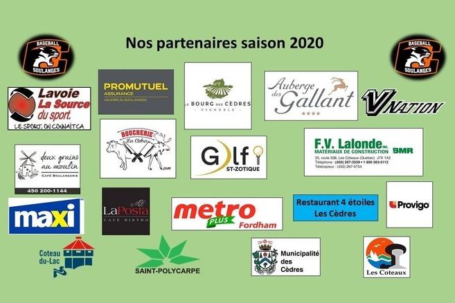 Partenaires saison 2020 - Merci !