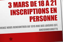 Inscription en personne