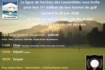 Invitation au tournoi de golf - 1ere édition