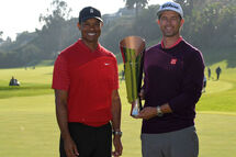 Tiger Woods et Adam Scott (Getty)