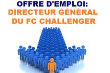OFFRE D'EMPLOI: DIRECTEUR GÉNÉRAL DU FC CHALLENGER DE MIRABEL