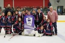 Atome A - L'équipe des  Pionnières de Lanaudière est finaliste au 23e tournoi provincial de Hockey féminin Laval