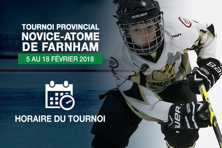 Place au tournoi Novice-Atome de Farnham