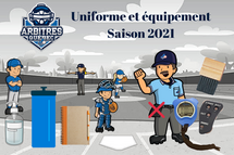 Uniforme, équipement etmesures sanitaires  Saison 2021