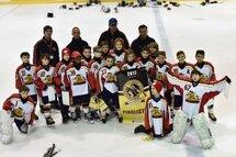 Les Bulldogs de Brossard /La Prairie, finalistes au Tournoi Provincial Atome de Brossard.
