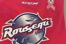 La journée de la rondelle rose $2000.00 remis à la Fondation du cancer du sein