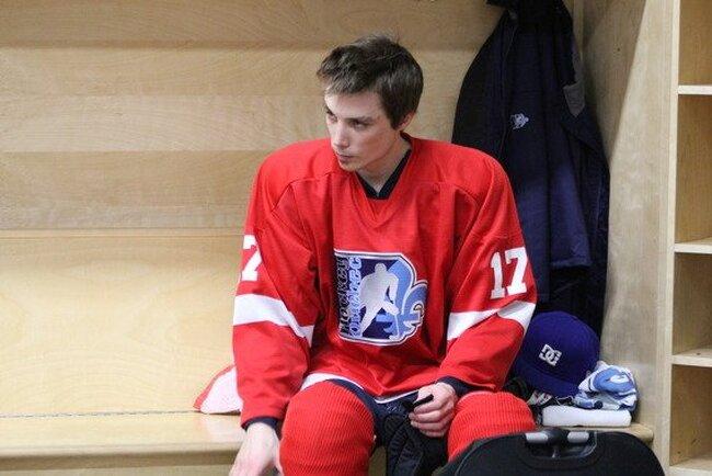 Hanrahan au sein de l'équipe d'hockey sur luge du Québec
