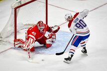 Jonathan Bernier a connu beaucoup de succès contre le Canadien et Tomas Tatar lors de la saison 2019-2020. (Getty)