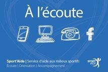 Service d'écoute pour les athlètes québécois C'EST PARTI pour le 833-2 «11-AIDE» !