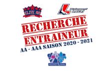 Candidatures entraîneurs AA - AAA / Saison 2020-2021