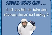 Viens essayer le hockey: des séances d'essai offertes partout au Québec!