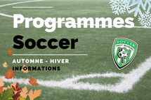 Programmes Soccer Automne-Hiver
