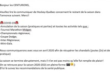 MESSAGE IMPORTANT - SAISON 2019-2020
