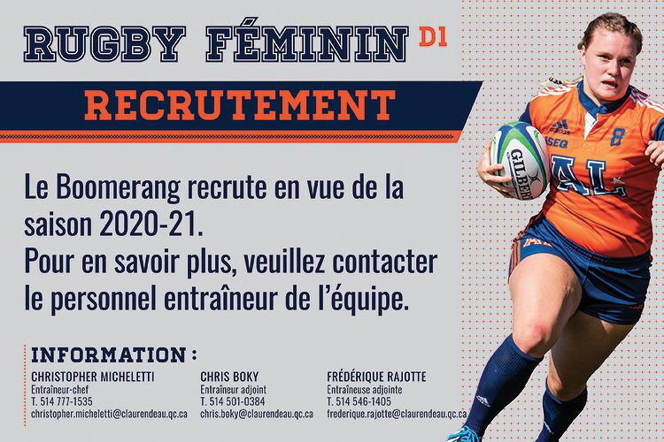 L'équipe féminine de rugby recrute déjà !