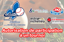 Les demandes d'autorisation de participation à un tournoi sont ouvertes