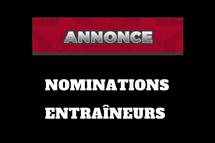 Nomination entraîneurs AA