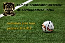 Horaire camp d'identification CDP (U9 à U12)