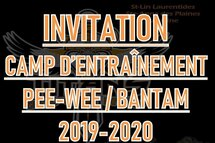 INVITATION CAMP D'ENTRAÎNEMENT PEEWEE - BANTAM  -  TITANS DE LA RIVE-NORD